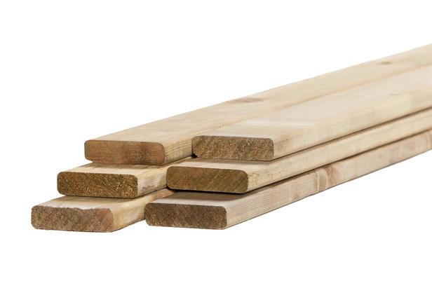 Tuinhout plank Vuren | 18 x 70 mm | 180 cm