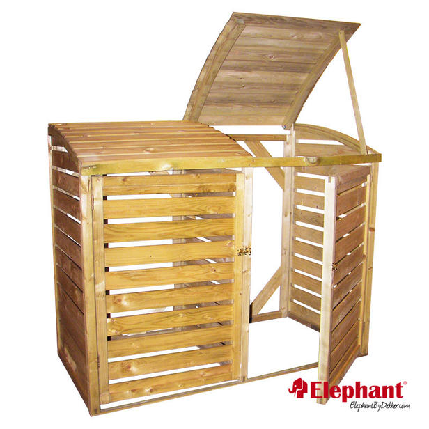 Elephant containerbox dubbel for Houten tuinkast intratuin