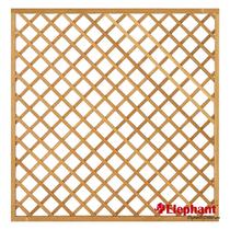 Elephant | Trellis met kader | 179x179 cm | Hardhout