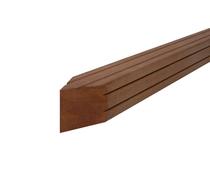 Hardhouten paal | Bangkirai | V-groef | 70 x 70 mm | 275 cm