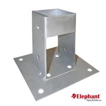 Elephant | Paalhouder met voet 70x70 mm | Verzinkt