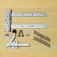 CarpGarant | Tuinheksluiting 300 mm | RVS