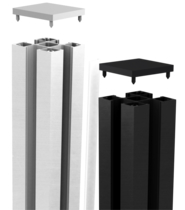 CarpGarant | Elements paal zilverkleurig | 7 x 7 x 200 cm