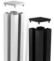 CarpGarant | Elements paal zwart | 7 x 7 x 200 cm