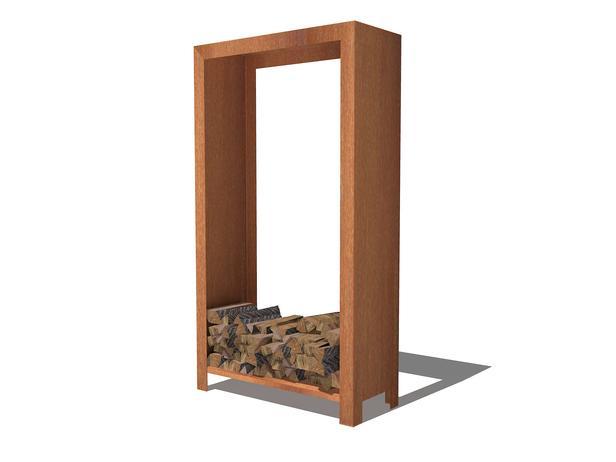 BURNI | Houtopslag 100x40x180 cm | Onbehandeld