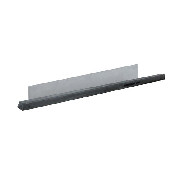 Beton tussenpaal | Glad | Antraciet | 180 cm