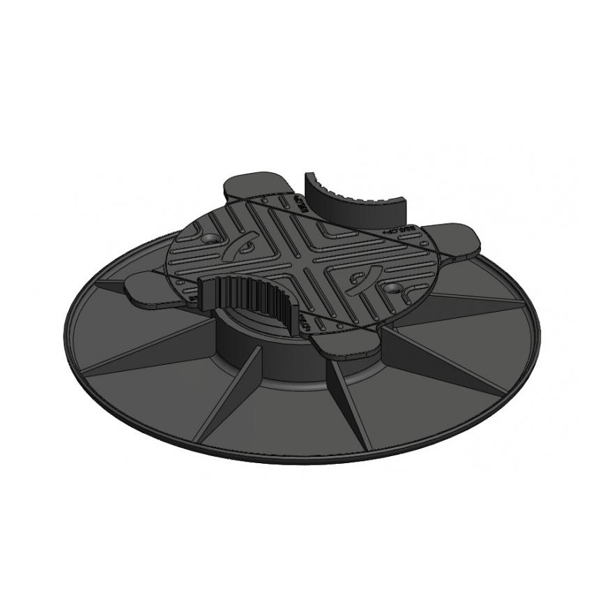 Verstelbare balkdrager met bovenplaat | 3-5 cm
