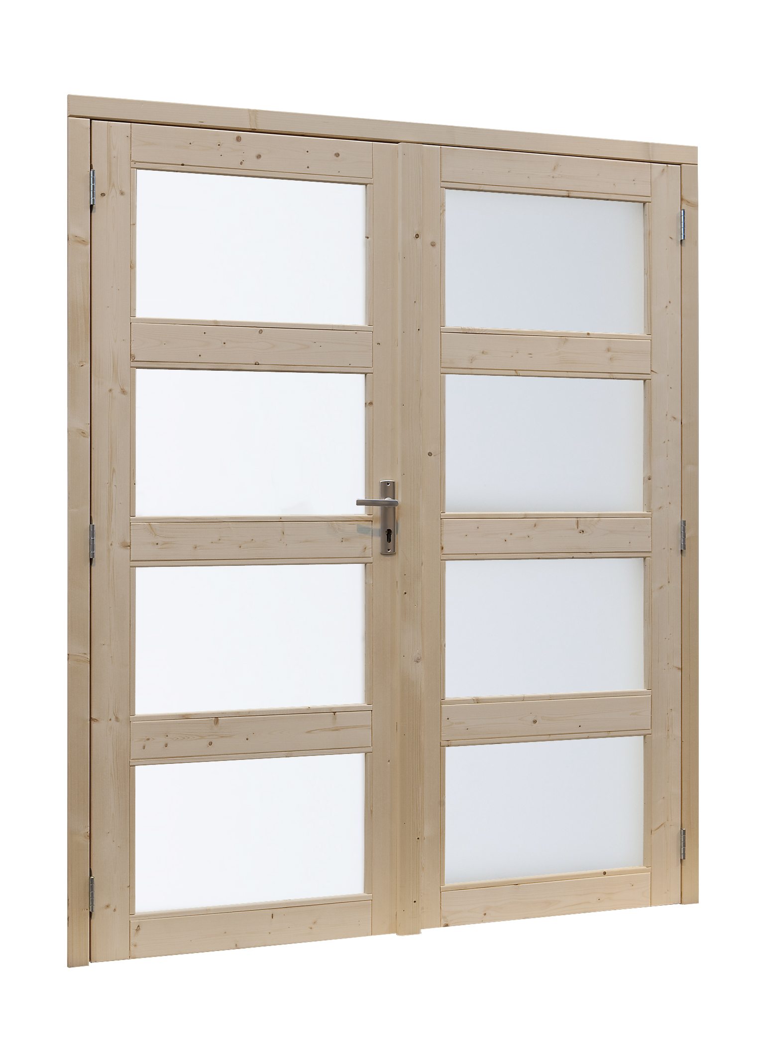 Woodvision   Vuren dubbele glasdeur 4-ruits   Geïmpregneerd groen