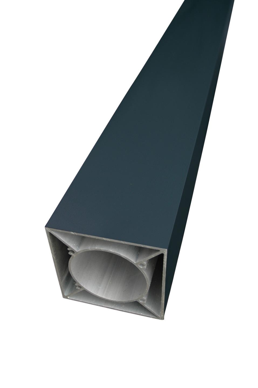 IdeAL | Aluminium zilver paal 183 cm