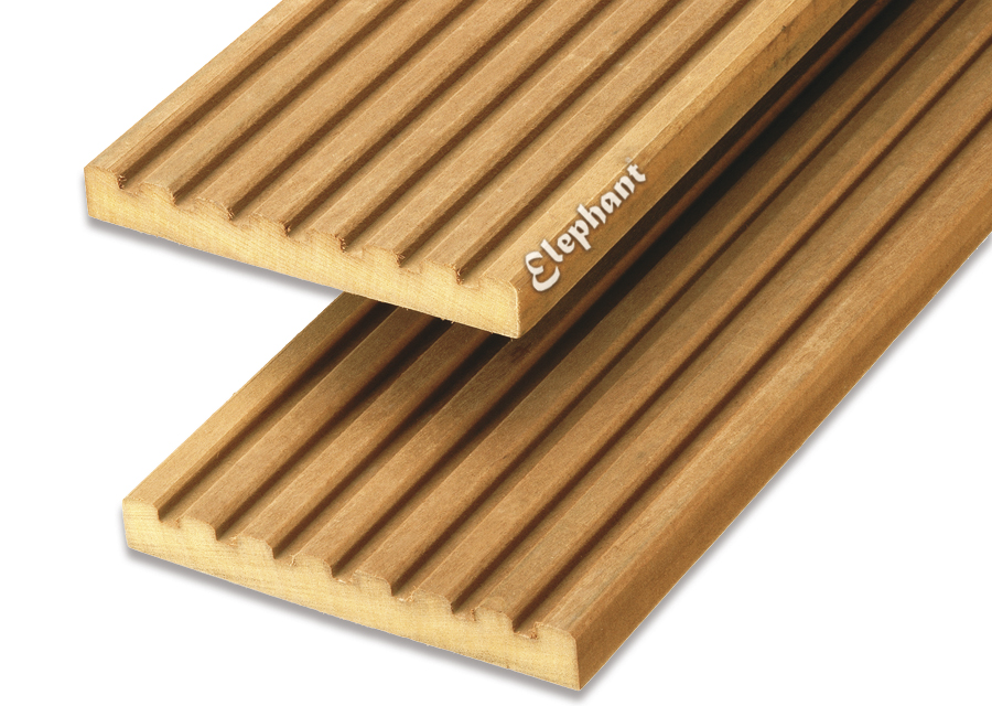 Houtsoort: garapa hardhout afwerking: semi ribbel/ groef afmeting:21 x 145mm lengte: 580cm let op: foto ...
