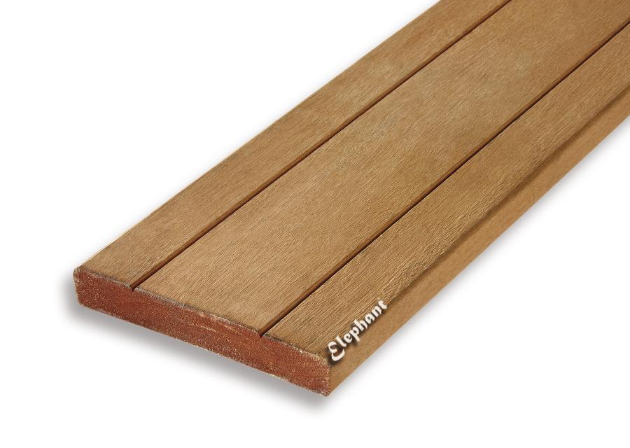 Houtsoort: kapurhardhout afwerking: glad/ v groef afmeting:28 x 190 mm lengte:550 cm