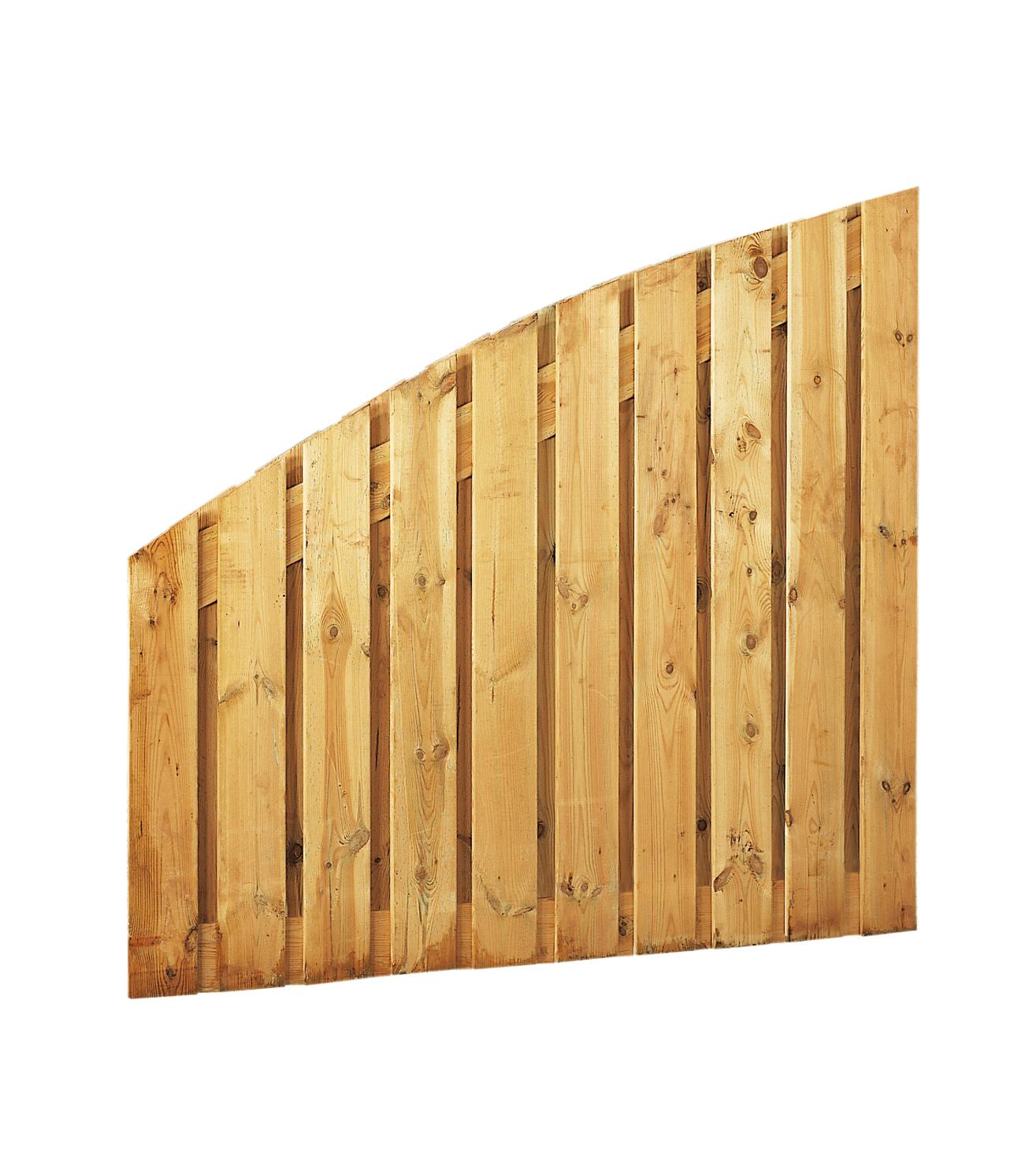 Toog-afbouwscherm grenen | verticaal 21-planks