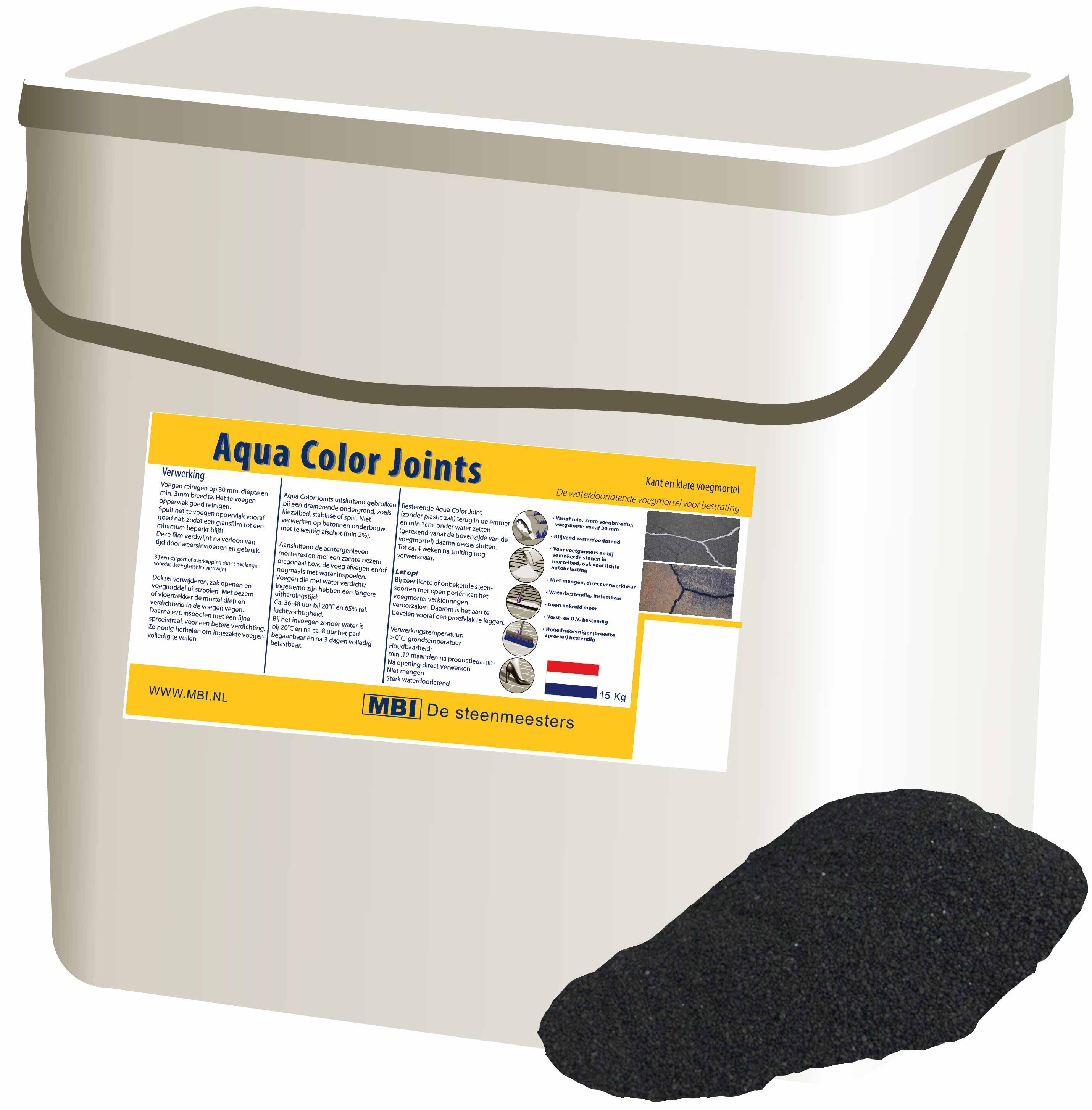 MBI | Mortel AquaColor Joints Basalt 15 kg