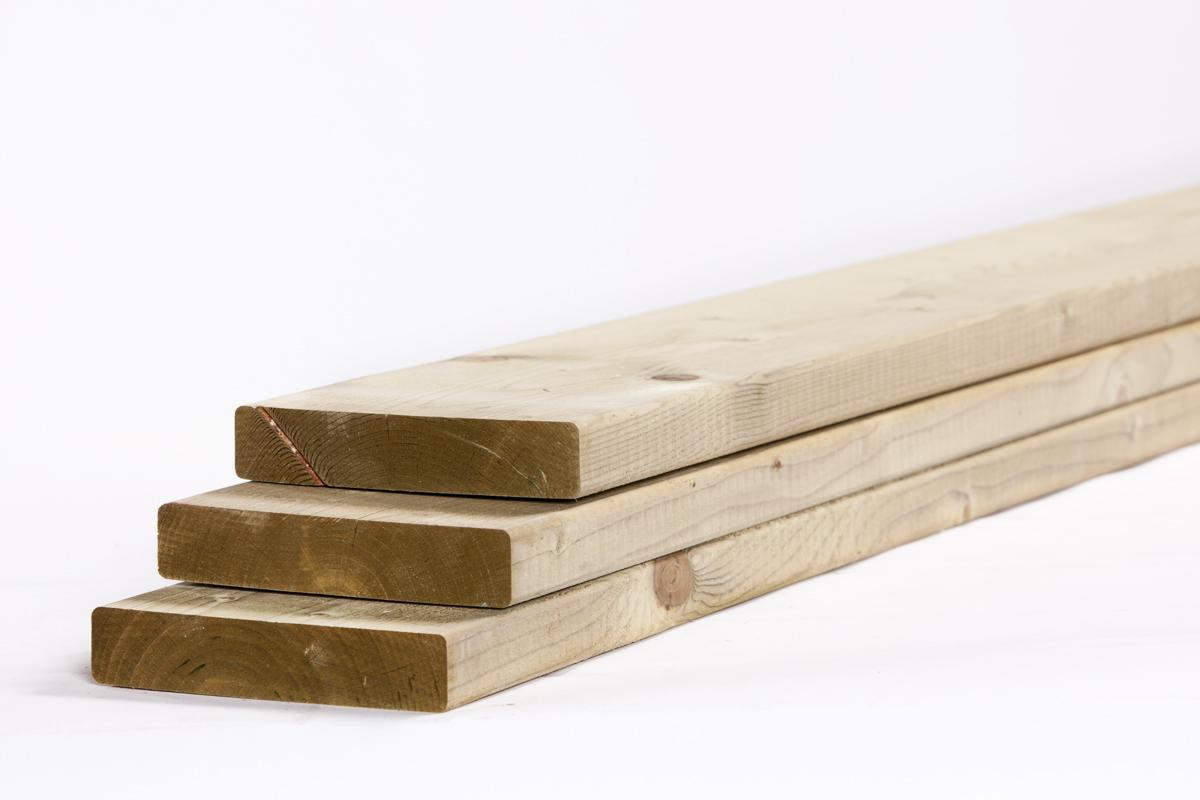 Tuinhout plank NE vuren | 28 x 145 | 420 cm