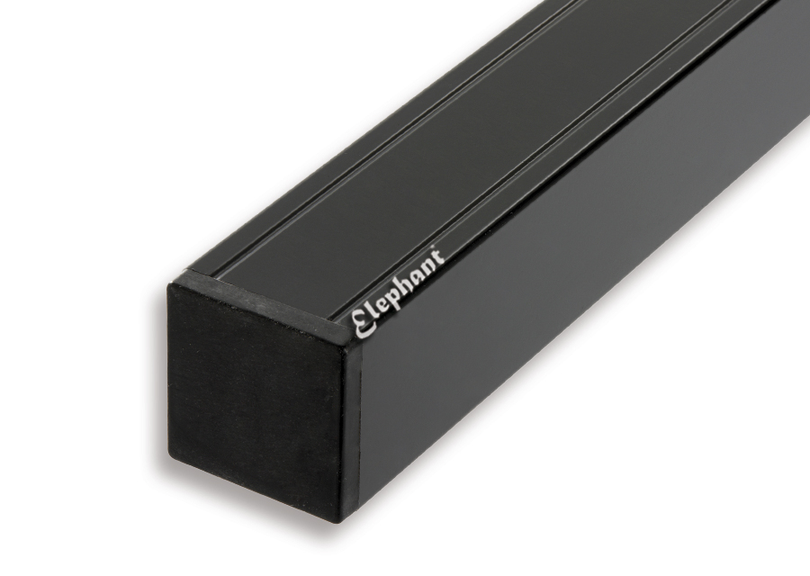 Elephant | Aluminium paal/kap | Antraciet | 88 x 88 mm lengte 186 cm