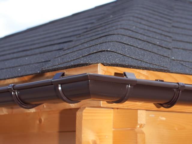 S-Lon | PVC Dakgoot Vierhoekig dak GD16| Bruin | 17.5-21 m