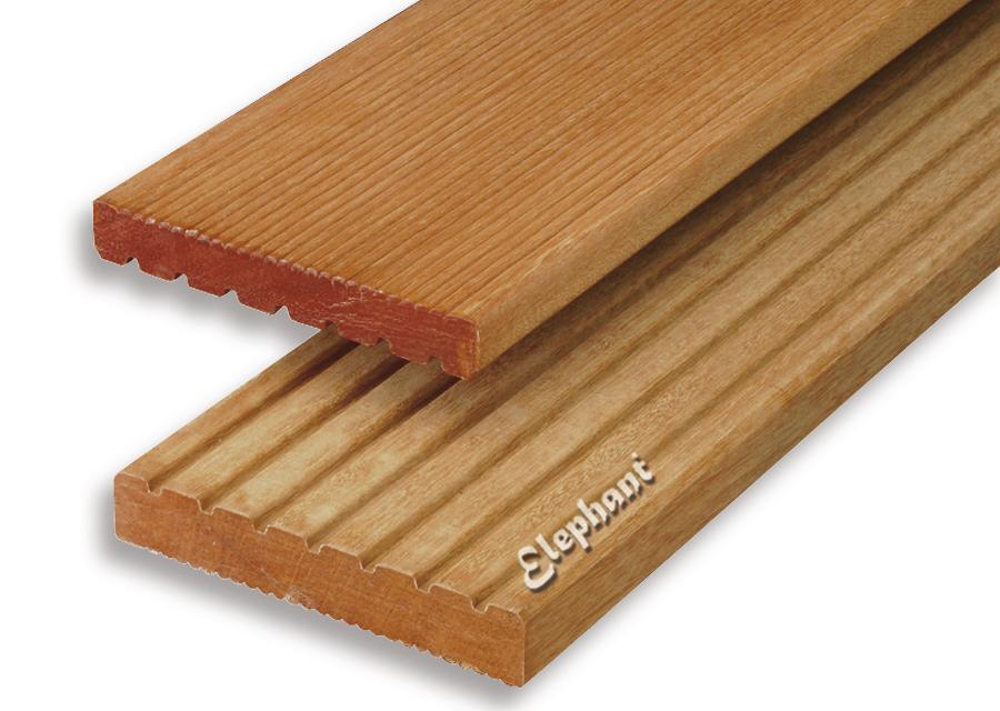 Houtsoort: kapur hardhout afwerking: groef/ ribbel afmeting:21x 145mm lengte: 395 cm