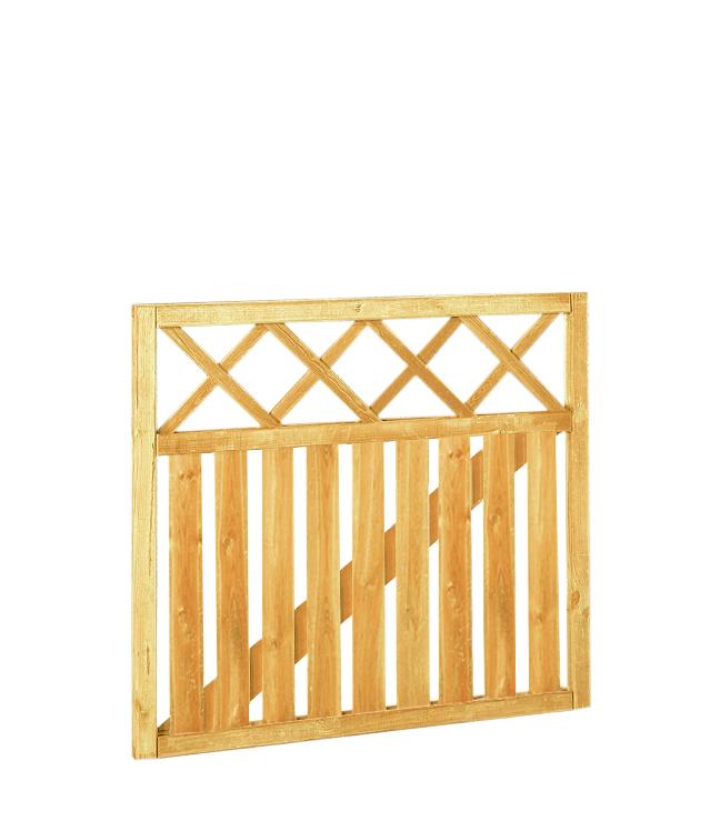 Woodvision   Hekpoort met trellis   Recht