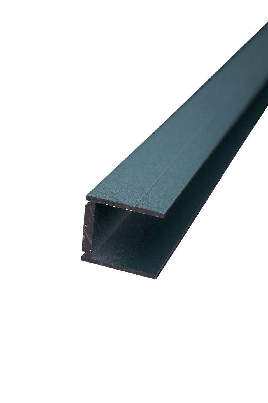 IdeAL | Antraciet Aluminium U-lijst 220 cm