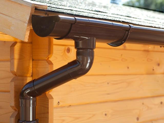 S-Lon | PVC Dakgoot Lessenaarsdak EXTRA100 | Bruin | Verlengset 175 cm
