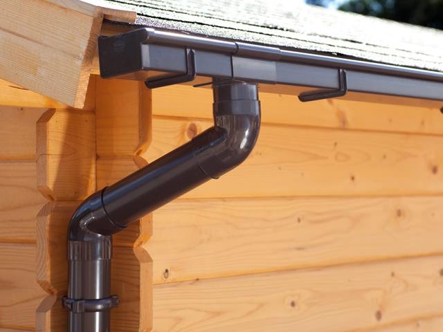 S-Lon | PVC Dakgoot Zadeldak BG70 | Bruin | Verlengstuk 175 cm