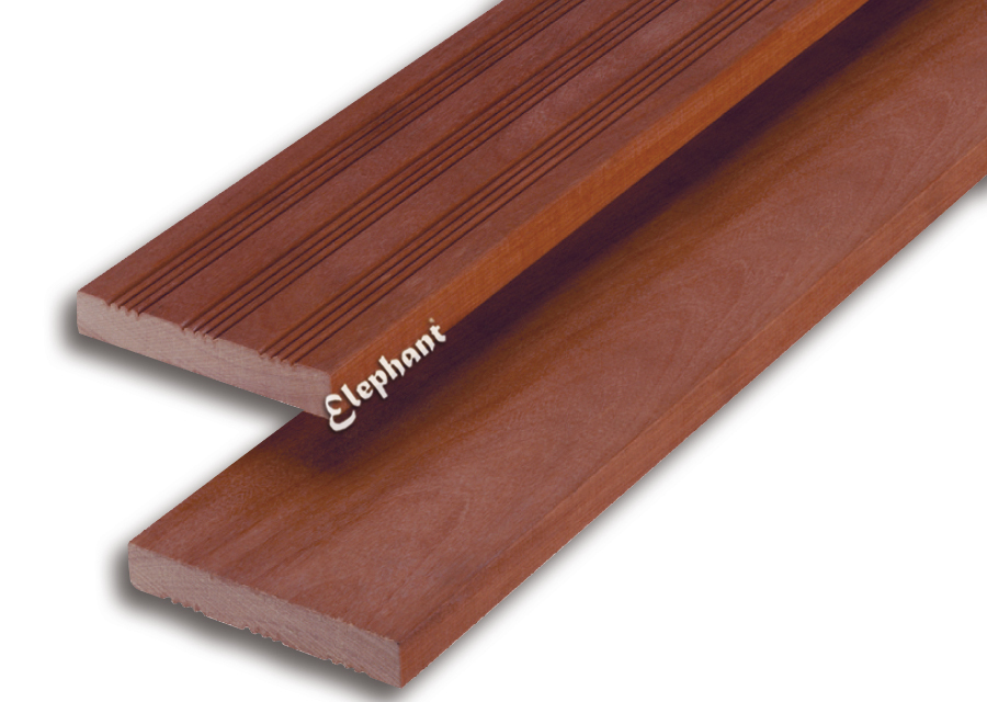 Houtsoort: morado fsc hardhout afwerking: semi ribbel/ glad afmeting: 19x 120mm lengte: 245cm