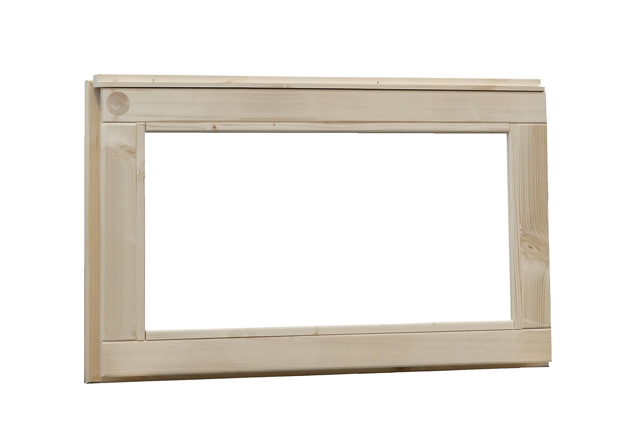 Woodvision   Vast raam met melkglas   Geïmpregneerd groen