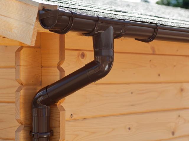 S-Lon | PVC Dakgoot Lessenaarsdak GD16 | Bruin | Verlengset 175 cm