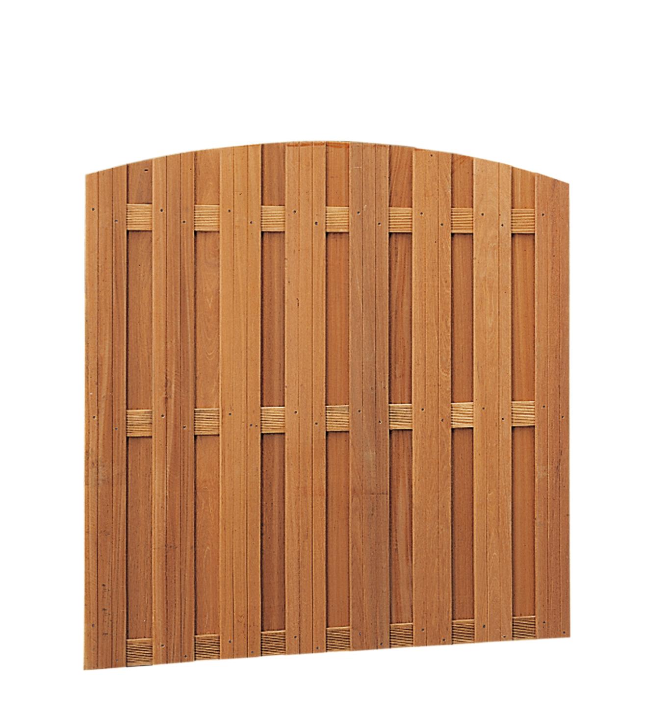 Geschaafd hardhout (keruing) verticaal rvs geschroefd 14 x 145 mm 180 x 170/180 cm zeer degelijke mooie ...