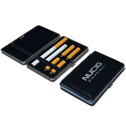 A Black electronic cigarette case