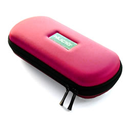 A NUCIG Ego carry storage case pink colour.