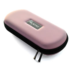 A NUCIG Ego carry storage case baby pink colour.