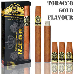 A Tobacco Gold flavour rechargeable ecigar kit