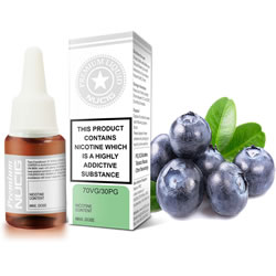 NUCIG 70VG/30PG E liquid Blueberry  Flavour