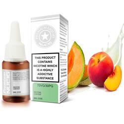 NUCIG 70VG/30PG E liquid Melon & Peach Cream Flavour
