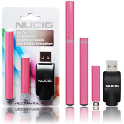 electronic cigarette,  Pink mini kit,NUCIG