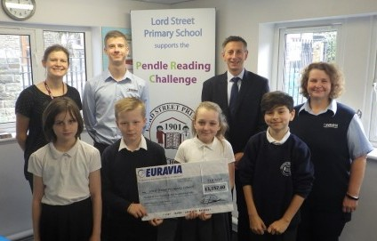 Euravia Donate to Lord Street Primary School Colne