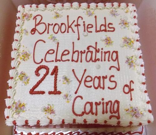 Brookfields 21st birthday cake