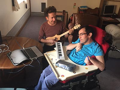 Keith and his music therapist