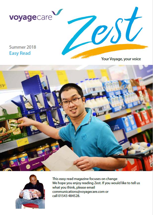Zest Autumn 2018 issue - Easy Read version
