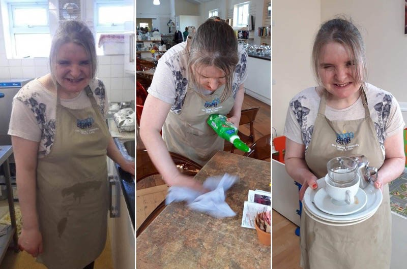 Sharon's taken a spoonful of positive-tea and raising autism awareness in her community