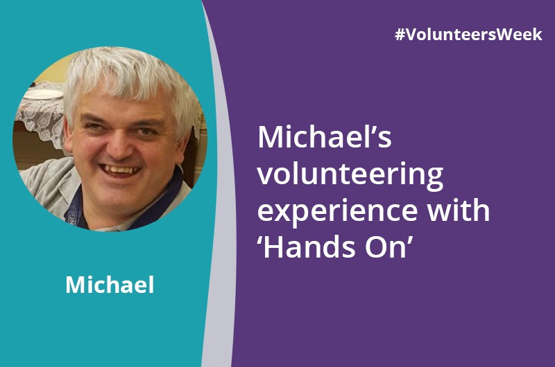 Michael volunteers at Hands On in Sandwell