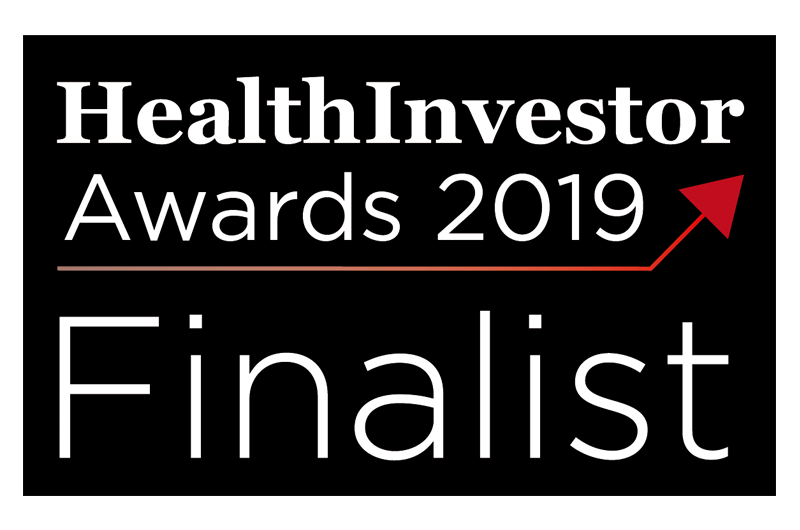 We're finalists at the 2019 HealthInvestor Awards