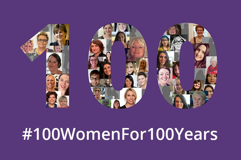 100 women for 100 Years - Celebrating International Women's Day 2018