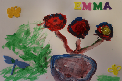 Emma's runner-up art competition entry