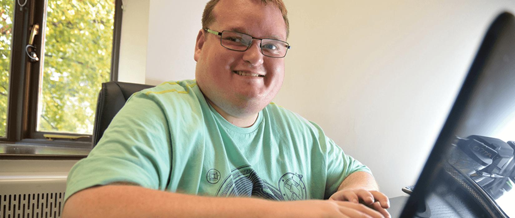 Hinckley volunteer Ben enjoys his first paid job