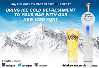 Coors light ice font nus 320x220px
