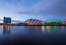 Glasgow riverside at