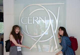 Society members visiting cern
