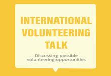 Volunteering talk banner